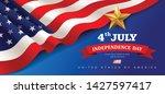 vector banner flag of united... | Shutterstock .eps vector #1427597417