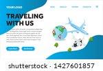 traveling isometric creative...   Shutterstock .eps vector #1427601857