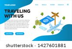 traveling isometric creative...   Shutterstock .eps vector #1427601881