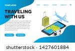 traveling isometric creative...   Shutterstock .eps vector #1427601884