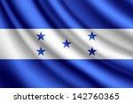 waving flag of honduras  vector | Shutterstock .eps vector #142760365