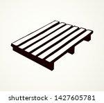 big blank brown tray palet set...   Shutterstock .eps vector #1427605781
