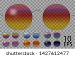 set glasses.teashades round... | Shutterstock .eps vector #1427612477