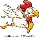 cartoon,chicken,gradient,hen,illustration,isolated,rooster,running,scared,vector,white