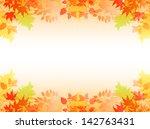 maple autumn leaves background | Shutterstock .eps vector #142763431