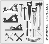 set of woodworking and... | Shutterstock .eps vector #1427635271