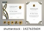 black and gold certificate of... | Shutterstock .eps vector #1427635604