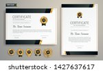 black and gold certificate of... | Shutterstock .eps vector #1427637617