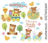teddy bear baby shower theme... | Shutterstock .eps vector #1427641664