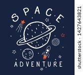 space concept tee print design...   Shutterstock .eps vector #1427643821