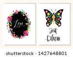 floral greeting cards ... | Shutterstock .eps vector #1427648801