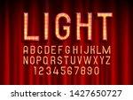 show font light symbol  red... | Shutterstock .eps vector #1427650727