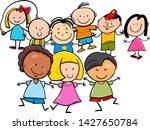 cartoon illustration of happy... | Shutterstock .eps vector #1427650784