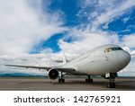 commercial airplane with nice... | Shutterstock . vector #142765921