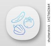 fresh vegetables app icon....
