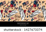 seamless pattern 4th of july ....   Shutterstock .eps vector #1427673374