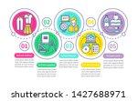 school life vector infographic...   Shutterstock .eps vector #1427688971