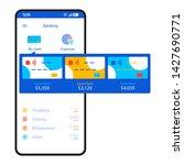 mobile banking app  interface...