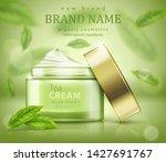 green tea skin care banner ads... | Shutterstock .eps vector #1427691767