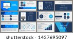 this blue template is the best... | Shutterstock .eps vector #1427695097