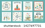 vector templates with people... | Shutterstock .eps vector #1427697731