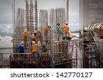 construction site workers | Shutterstock . vector #142770127