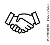 handshake icon vector design... | Shutterstock .eps vector #1427724317