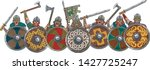 medieval viking warrior shield... | Shutterstock .eps vector #1427725247