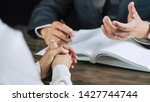 justice lawyer consulting give... | Shutterstock . vector #1427744744