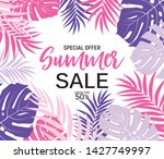 abstract summer sale background ... | Shutterstock .eps vector #1427749997