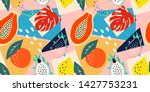 contemporary abstract floral... | Shutterstock .eps vector #1427753231