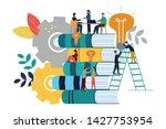 vector illustration  teamwork ...   Shutterstock .eps vector #1427753954