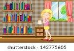 illustration of a girl inside a ... | Shutterstock .eps vector #142775605
