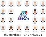 japan  osaka   28 29 june 2019  ... | Shutterstock .eps vector #1427763821