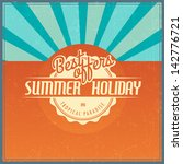 retro elements for summer... | Shutterstock .eps vector #142776721