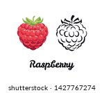 raspberry icon set isolated on... | Shutterstock .eps vector #1427767274