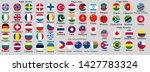 set of flags of world sovereign ... | Shutterstock . vector #1427783324