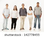 five different people standing... | Shutterstock . vector #142778455