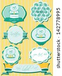 cute baby label set | Shutterstock .eps vector #142778995