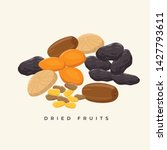 group of dried fruits vector... | Shutterstock .eps vector #1427793611