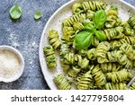 pasta with pesto and parmesan... | Shutterstock . vector #1427795804