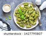 pasta with pesto and parmesan... | Shutterstock . vector #1427795807