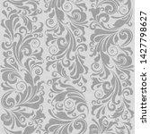 seamless ornate baroque gray... | Shutterstock . vector #1427798627