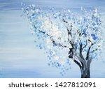 Drawing Of Bright Winter Tree...