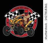 atv off road logo design vector ... | Shutterstock .eps vector #1427818361