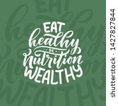 healthy food lettering for... | Shutterstock .eps vector #1427827844
