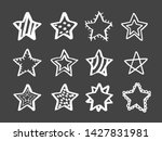 set of white hand drawn doodle... | Shutterstock .eps vector #1427831981