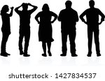 group of people. crowd of... | Shutterstock .eps vector #1427834537
