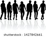 group of people. crowd of... | Shutterstock .eps vector #1427842661