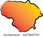 stylized yellow red gradient...   Shutterstock .eps vector #1427843747